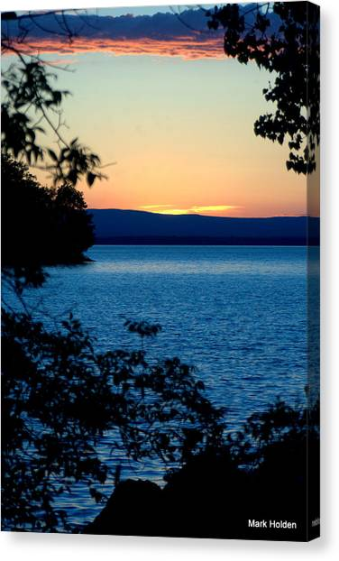 Upstate Ny Sunset  Canvas Print by Mark Holden