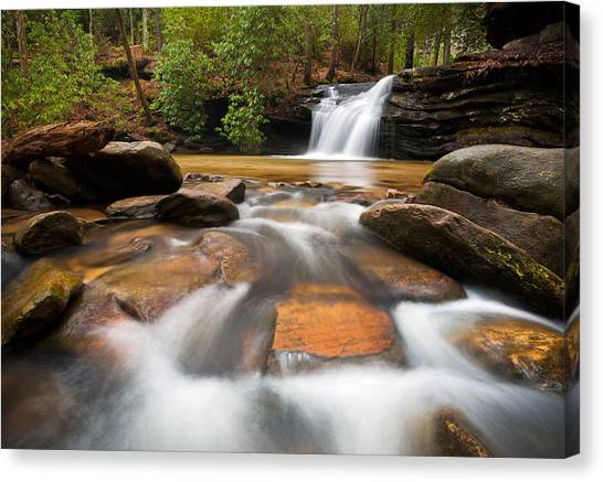 Table Mountain Canvas Print - South Carolina Blue Ridge Mountains Waterfall Nature Photography  by Dave Allen