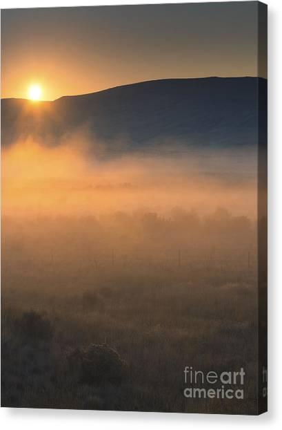 Desert Sunrises Canvas Print - Uptanum Dawning by Mike  Dawson