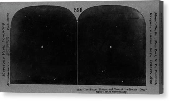 Uranus Canvas Print - Uranus In 1910s by Us Naval Observatory/science Photo Library
