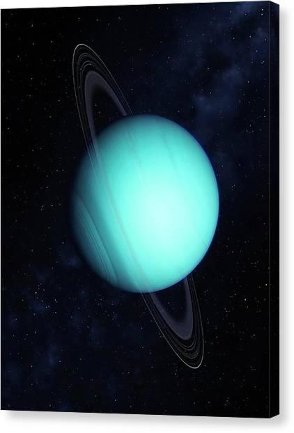 Uranus Canvas Print - Uranus by Mark Garlick/science Photo Library