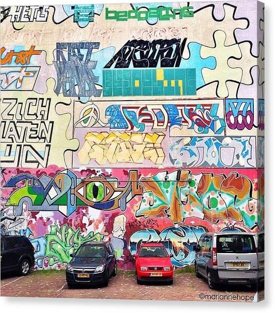 Graffiti Walls Canvas Print - Urban Amsterdam by Marianne Hope