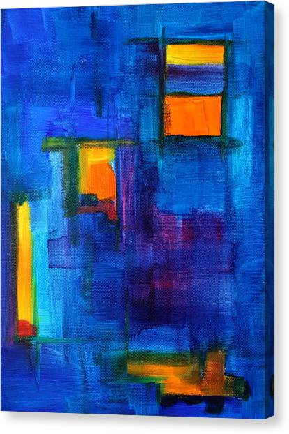 Fluids Canvas Print - Urban Architecture Abstract by Nancy Merkle