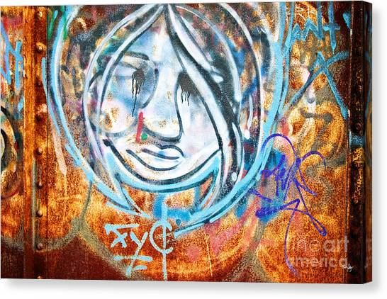 Graffiti Walls Canvas Print - Urban Art by Scott Pellegrin