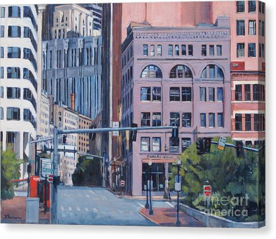 Urban Canyon Congress Street Canvas Print