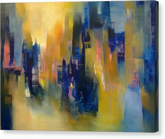 Urban Echoes Canvas Print by Alicia Valdivia
