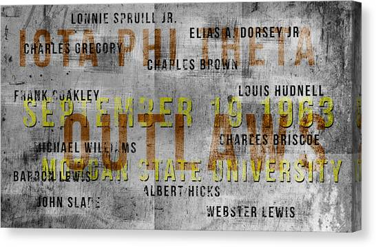 Iota Phi Theta Canvas Print - Urban Iota by Rodney Wofford