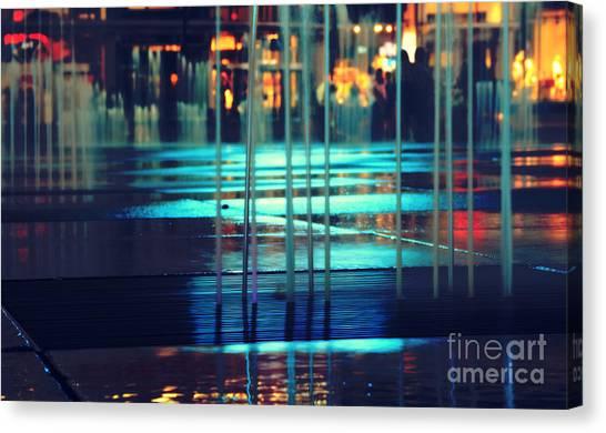 Urban Night Life Canvas Print
