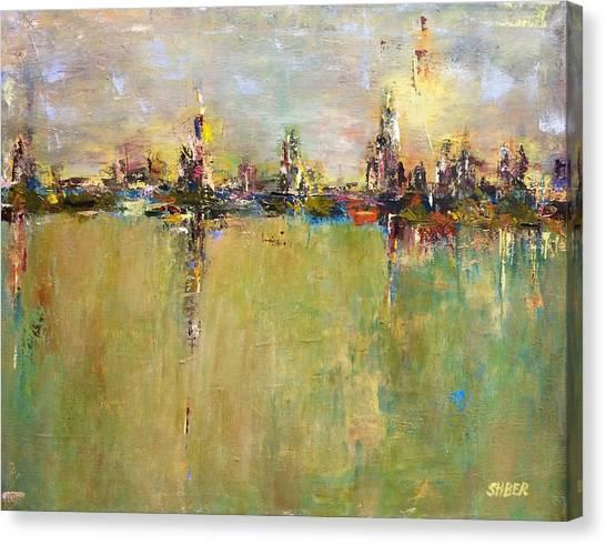 Urban Reflection Canvas Print