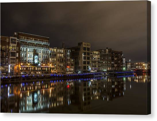 Urban River Reflected Canvas Print