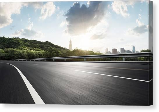 Urban Road,usa Canvas Print by Yubo