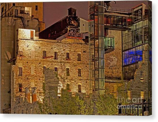 Urban Ruins At Night Canvas Print