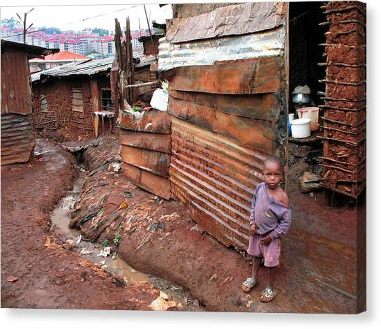 Kenyan Canvas Print - Urban Slum by Laura Conklin M.d., Medical Officer; Respiratory Diseases Branch/cdc