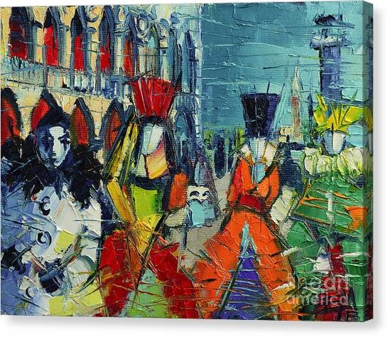 San Marco Canvas Print - Urban Story - The Carnival by Mona Edulesco