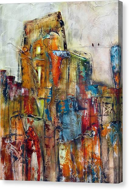 Urban Town Canvas Print