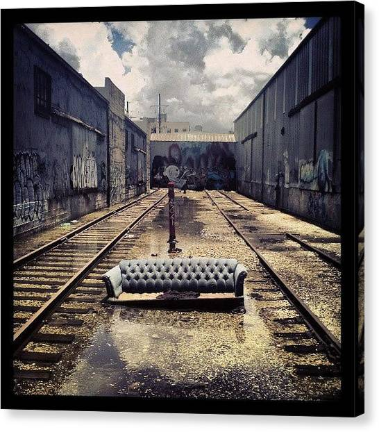 Warehouses Canvas Print - Urban Wasteland by Glen Abbott
