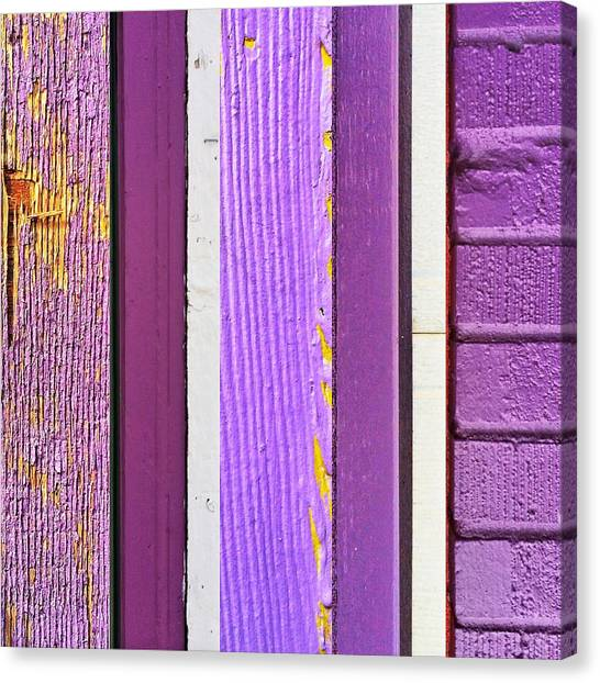 Old Age Canvas Print - Urbanstratification Purple by Rene Constantin