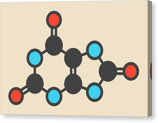 Diabetes Canvas Print - Uric Acid Molecule by Molekuul