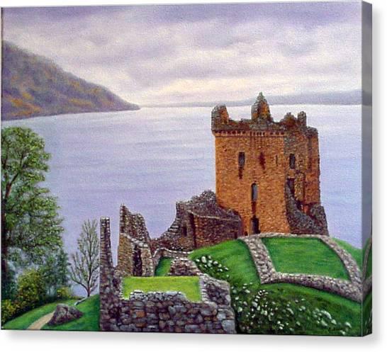 Urquhart Castle Loch Ness Scotland Canvas Print