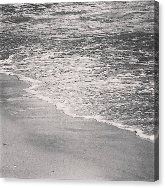 White Sand Canvas Print - Uruguay Sea by Juan Parafiniuk