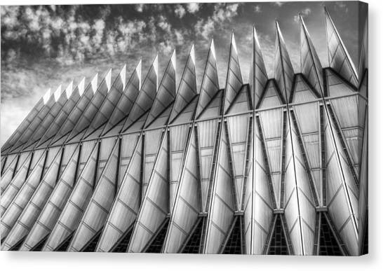 Us Air Force Academy Chapel Colorado Springs Canvas Print