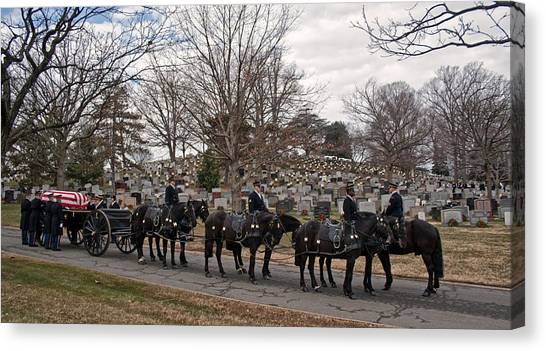 Us Army Caisson At Arlington National Cemetery Canvas Print
