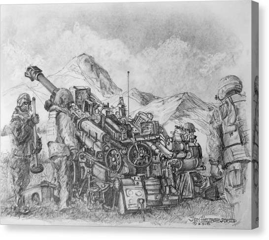 Us Army M-777 Howitzer Canvas Print