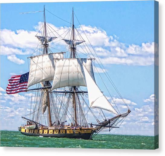 Us Brig Niagara  Canvas Print