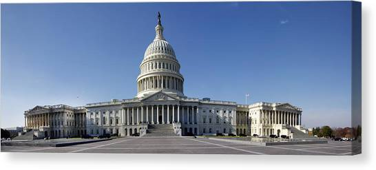 Us Capitol Panorama Canvas Print