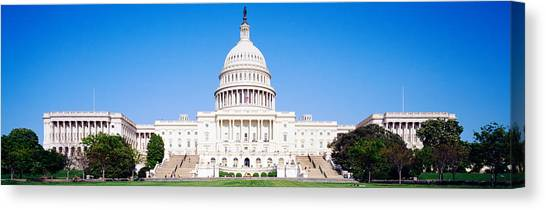 Capitol Building Canvas Print - Us Capitol, Washington Dc, District Of by Panoramic Images