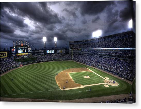 Us Cellular Field Twilight Canvas Print