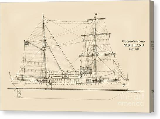 Coast Guard Canvas Print - U. S. Coast Guard Cutter Northland by Jerry McElroy - Public Domain Image