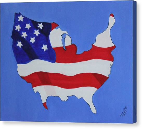 Us Flag Canvas Print