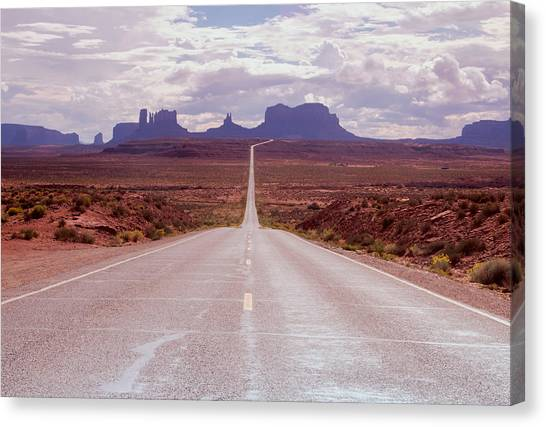 Us Highway 163 Canvas Print