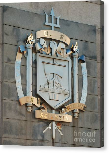 Us Naval Academy Insignia Canvas Print