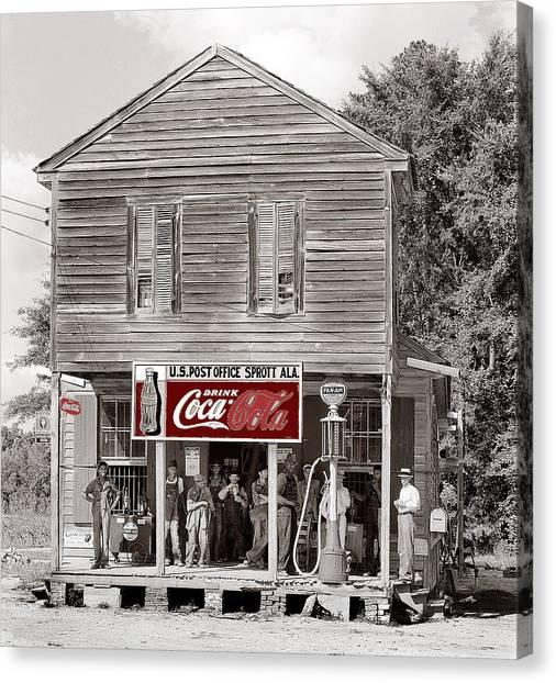 U.s. Post Office General Store Coca-cola Signs Sprott  Alabama Walker Evans Photo C.1935-2014. Canvas Print