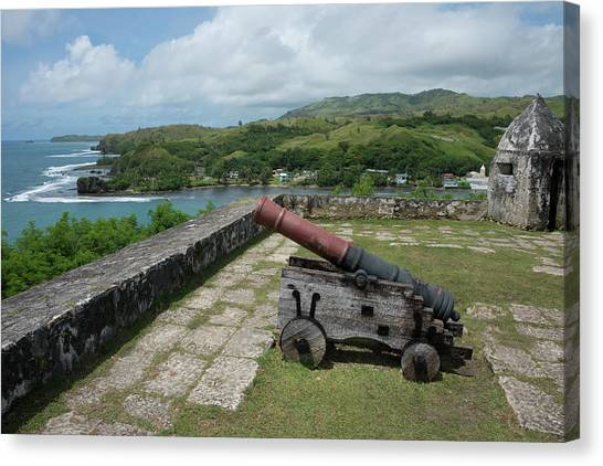 Spanish Fort Canvas Print - Us Territory Of Guam, Umatac by Cindy Miller Hopkins