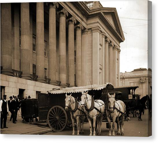 D.c. United Canvas Print - U.s. Treasury Currency Wagon, Washington by Litz Collection