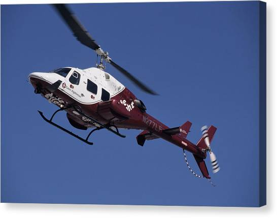 Medivac Canvas Print - Usa, Boise, Life Flight Helicopter by Gerry Reynolds