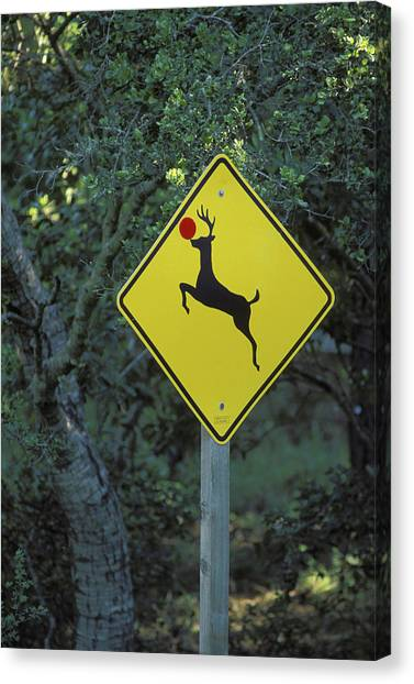 Caution Canvas Print - Usa, California A Prankster Converted by Jaynes Gallery