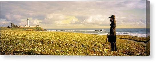 Business-travel Canvas Print - Usa, California, Businessman Standing by Panoramic Images