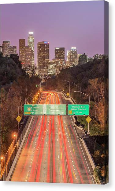 Interstates Canvas Print - Usa, California, Los Angeles 110 by Rob Tilley