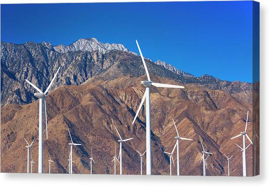 Usa, California, Palm Springs, Wind Farm Canvas Print by Tetra Images