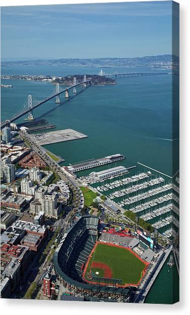 San Francisco Giants Canvas Print - Usa, California, San Francisco by David Wall