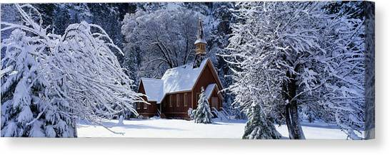World Heritage Site Canvas Print - Usa, California, Yosemite Park, Chapel by Panoramic Images
