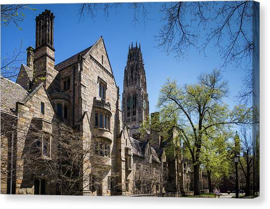 Yale University Canvas Print - Usa, Connecticut, New Haven, Yale by Walter Bibikow