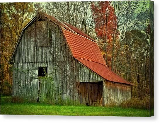 Indiana Autumn Canvas Print - Usa, Indiana Rural Landscape by Rona Schwarz