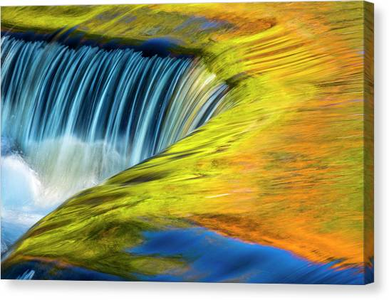 Waterfalls Canvas Print - Usa, Michigan, Waterfall, Abstract by George Theodore