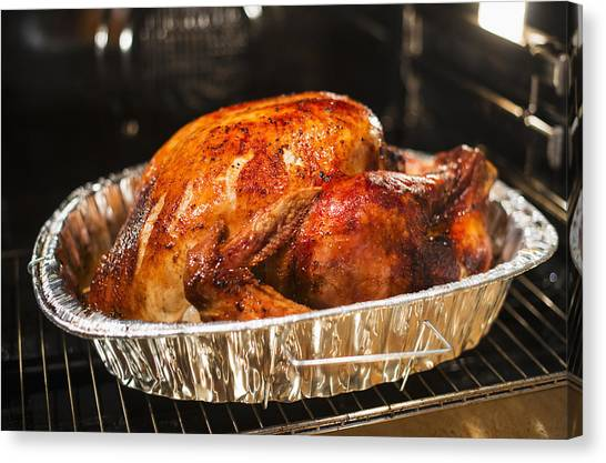 Usa, New York State, Roast Turkey Canvas Print by Tetra Images