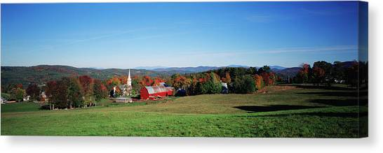 House Of Worship Canvas Print - Usa, Northeast Kingdom, Vermont, View by Walter Bibikow